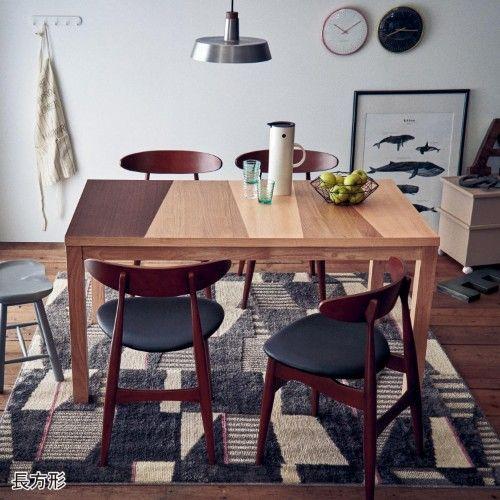 ベルメゾンインテリア 北欧インテリアお部屋コーディネート|通販の ... ミックス天板のダイニングテーブル