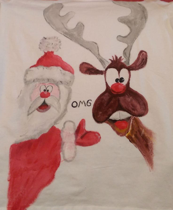 T-shirt painted by DSTcraft on Etsy
