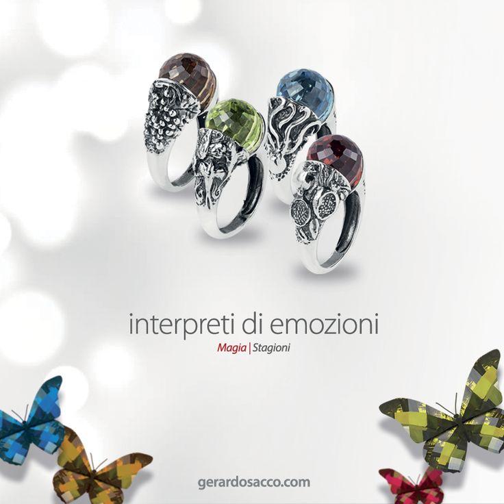 Una #Magia per dar voce alle tue emozioni e colorare con eleganza il suo stile.  Per la #FestadellaMamma scopri i nuovi anelli #Stagioni in tutti gli showroom #GerardoSacco