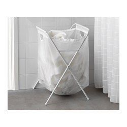 IKEA - JÄLL, Laundry bag with stand, Can be folded up, which makes the laundry bag simple to carry and put away.