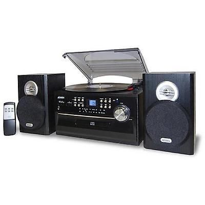Turntable Cd Player Cassette Stereo System 3 Speed Am/fm Record Audio Remote New