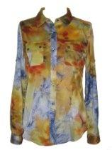 CALVIN KLEIN Woven Raglan Sleeve Patch Peri Multi--PERIWINKLE MULTI-XS