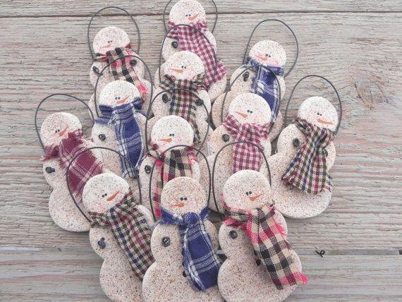 Wholesale Primitive Salt Dough Snowmen Set by cookiedoughcreations, $17.95