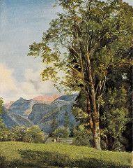 waldmuller, ferdinand georg - Dorf Ahorn bei Ischl (mit Loser und Sandling)