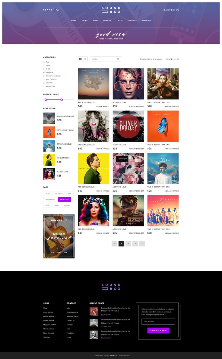 SoundBox | Digital Downloads WP Theme - Products Grid