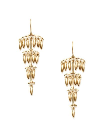 Tiered Gold Pod Earrings by Padma at Gilt