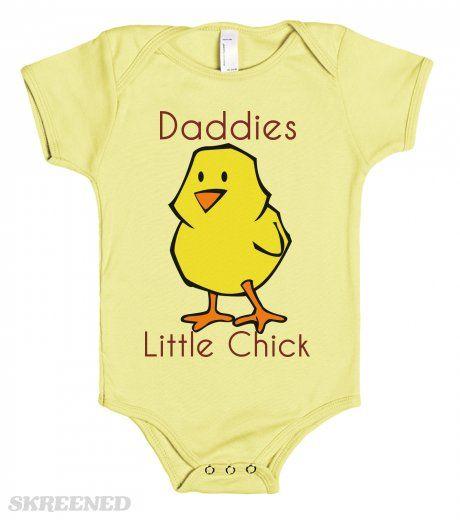 Daddies Little Chick - one piece baby t-shirt