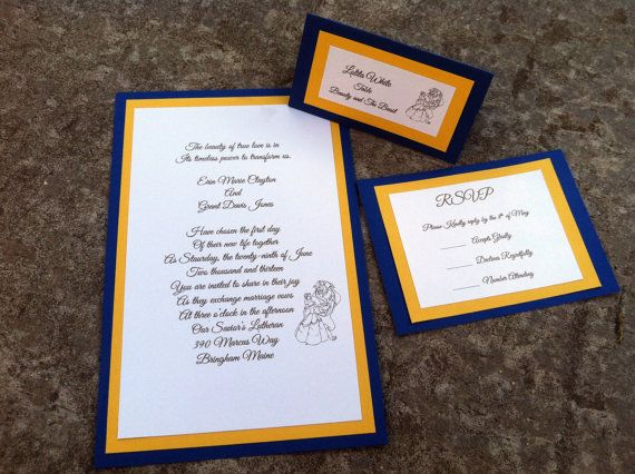 hey i found this really awesome etsy listing at httpswwwetsycomlisting165922688beauty the beast disney invitations rsvp pinterest disney - Beauty And The Beast Wedding Invitations