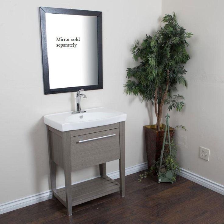 Bellaterra Home 27.5 inch Single Sink Vanity in Gray Finish 804353-GY