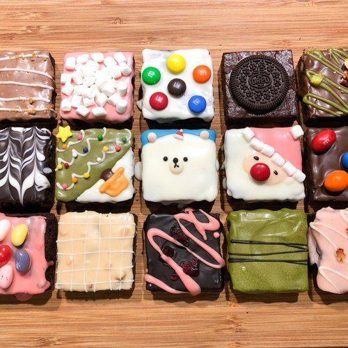 【黑熊先生巧克力布朗尼】雪地胖胖熊禮盒-15入 (2017聖誕限定) (With images)