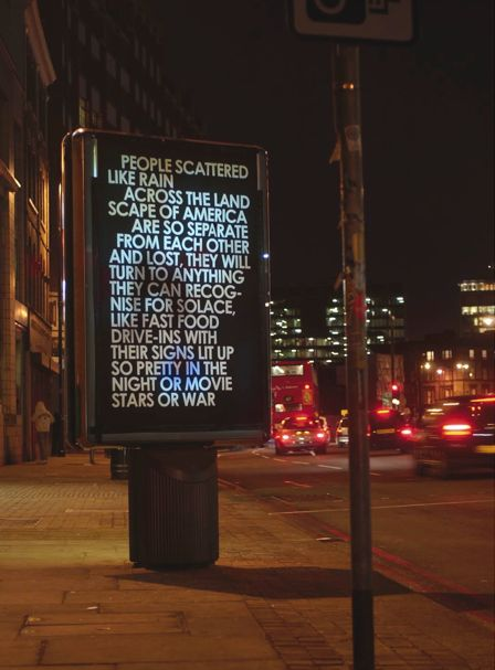 hijacked signage... beautiful poetry... perfection.