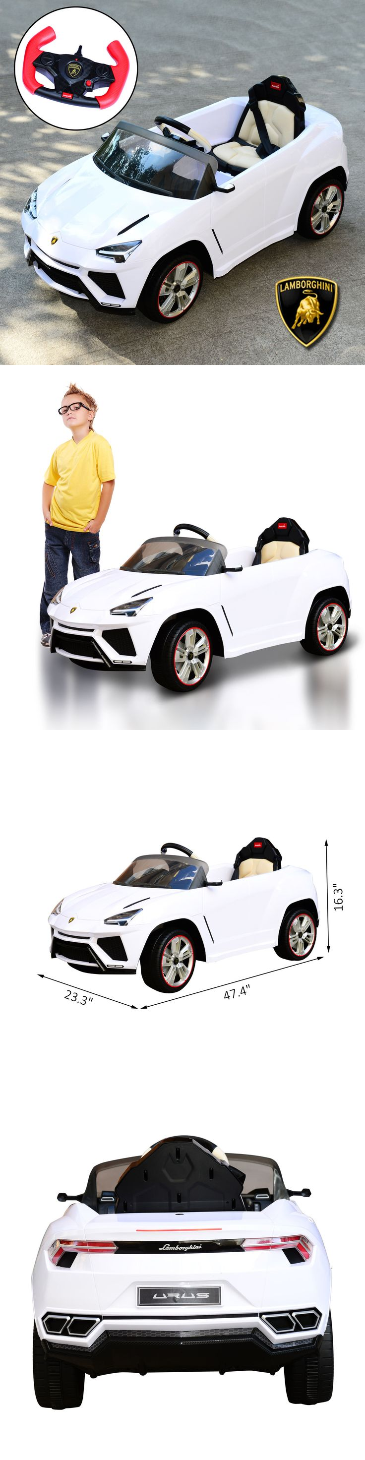 Ride On Toys and Accessories 145944: Lamborghini 12V Double Engine Kids Ride On Toy Car Electric Remote Contol White -> BUY IT NOW ONLY: $229.99 on eBay!