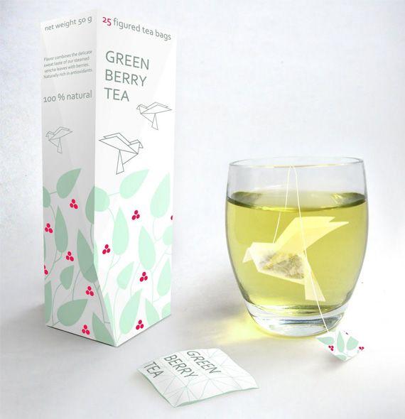 origami tea bags. wow!