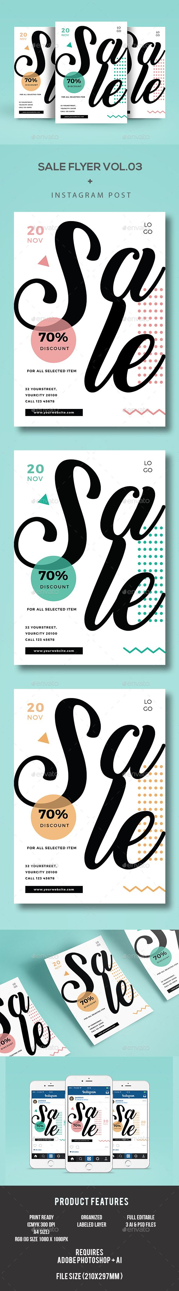 Sale Flyer  — PSD Template #winter sale #geometric • Download ➝ https://graphicriver.net/item/sale-flyer/18261860?ref=pxcr