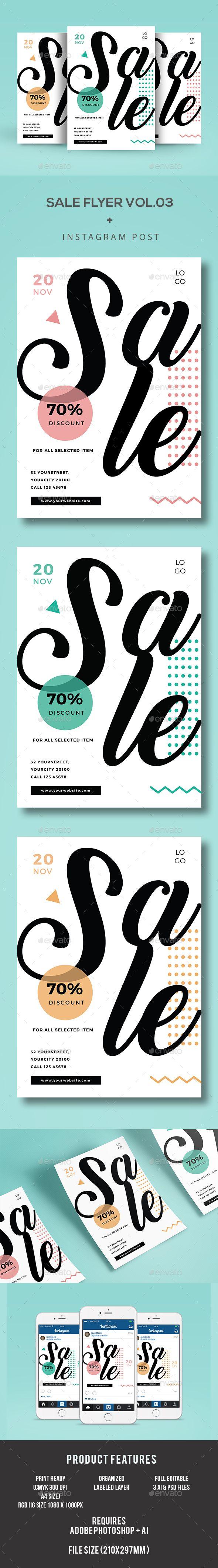 Sale Flyer  — PSD Template #winter sale #geometric • Download ➝ https://graphicriver.net/item/sale-flyer/18261860?ref=pxcr