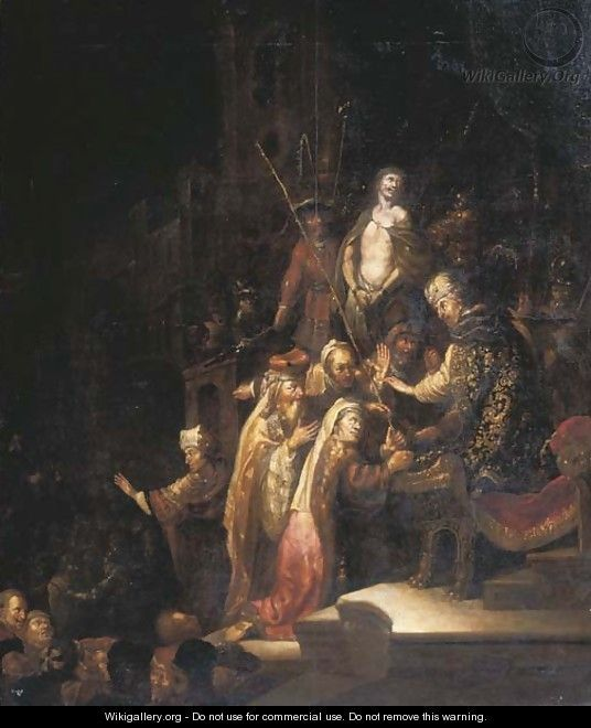 Christ before Pontius Pilate - Rembrandt Van Rijn