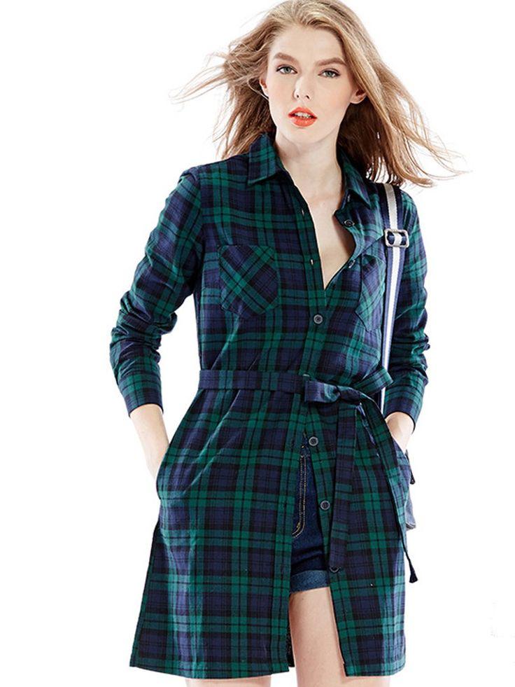 Best 25 plaid shirt dresses ideas on pinterest green for Blue and green tartan shirt