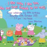 Peppa Pig Birthday Invitations Nz