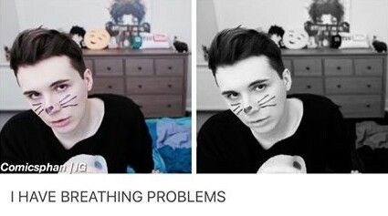 I don't think dan understands he's slowly murdering the phandom with his quiffs