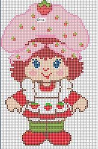 Strawberry Shortcake perler bead pattern