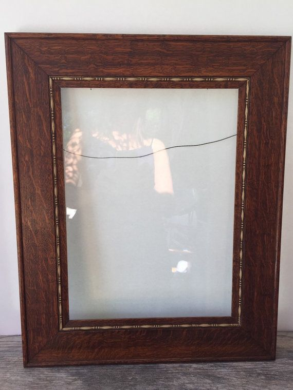 Antique Oak Picture Frame Quarter Sawn Oak by Obsoletestreet