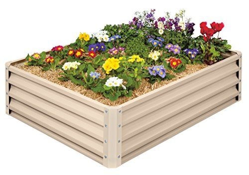 """Metal Raised Garden Bed Kit - Elevated Planter Box For Growing Herbs, Vegetables, Flowers, and Succulents (1):   Metal Raised Garden Bed. 46"""" (L) x 35"""" (W) x 12"""" (H). Heavy Duty Metal Construction. Holds 11 cu ft of soil. Easy DIY assembly. No Tools Required."""