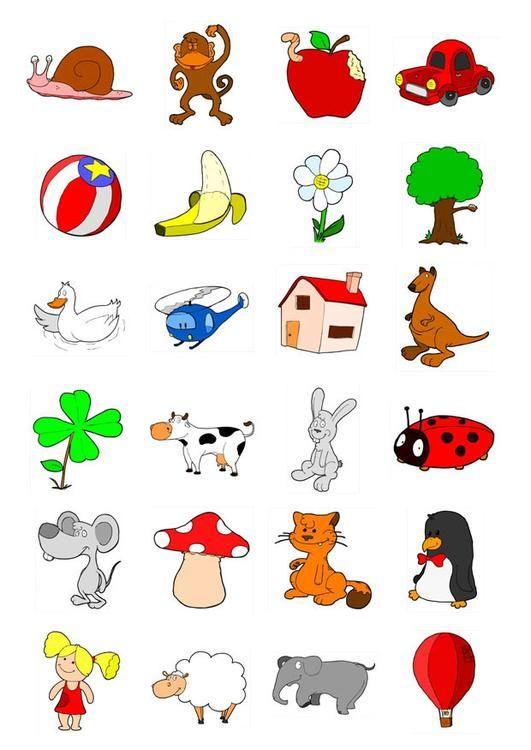 Afbeelding icoontjes voor kleuters - prent icoontjes voor kleuters. Afbeelding voor gebruik op school en in het onderwijs - afb 20710