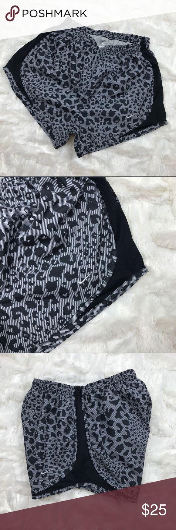 Nike • Leopard Print Workout Shorts PreLoved • mesh at sides, pocket at back right side for keys, money, etc. Nike Shorts