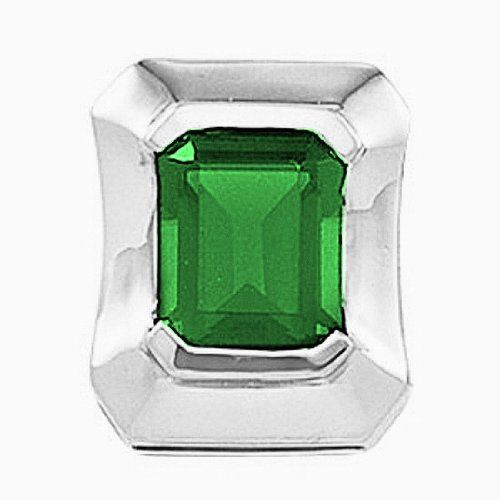 Platinum Emerald Cut Chatham Created Emerald Pendant Gems-is-Me. $2118.25. FREE PRIORITY SHIPPING. This item will be gift wrapped in a beautiful gift bag. In addition, a 'gift message' can be added.