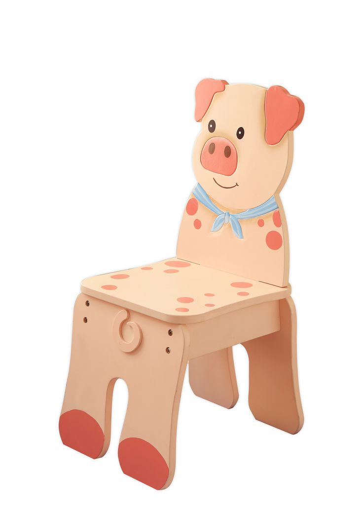 Kidu0027s Wooden Pig Chair From The Teamson® Happy Farm Room Collection   Kidu0027s  Furniture At Sportsmanu0027s Guide