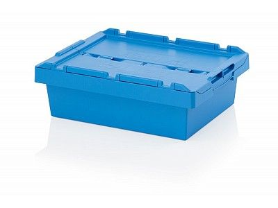 26.5 Litre Stack - Nest Attached Lid Container - Lidded Plastic Storage Box