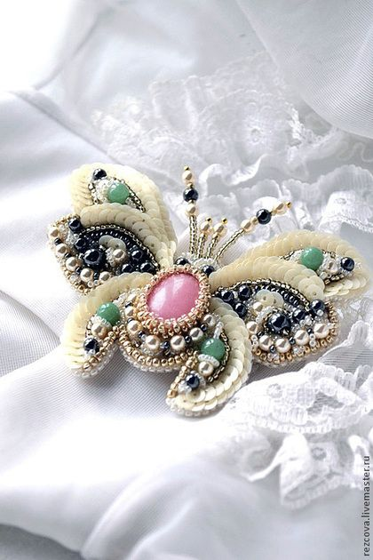 "Agia Reztsova, Severina Beetle Brooch (""with extended wings ready to fly!"")"
