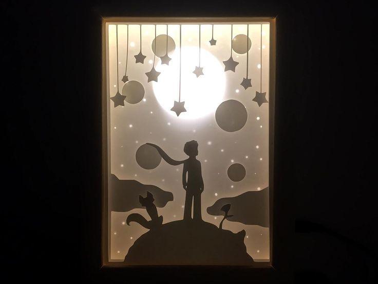 Paper Cut Silhouette Shadow Box – Little Prince