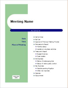 Agenda capsule design DOWNLOAD at http://www.templateinn.com/10-meeting-agenda-templates-for-ms-word-excel/