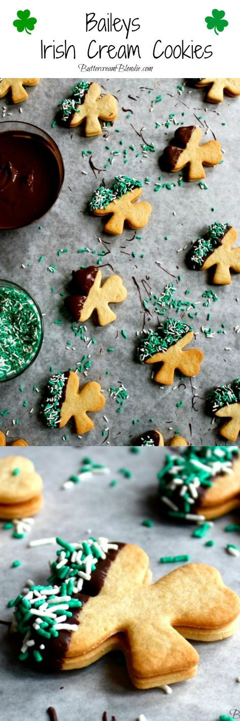 Baileys Irish Cream Cookies - These fun, festive and #boozy cookies are a must for Saint Patrick's Day! | http://ButtercreamBlondie.com