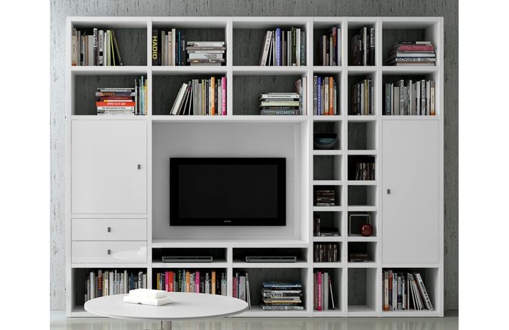 biblioth que moderne murale mobilier de salon contemporain meuble et. Black Bedroom Furniture Sets. Home Design Ideas