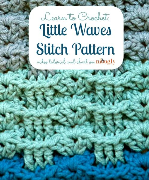 Learn how to #crochet the Little Waves Stitch Pattern from Mooglyblog.com, thanks so xox