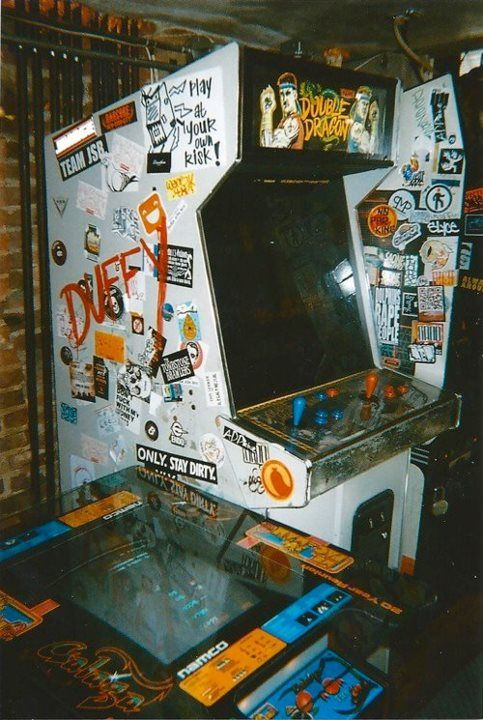 """""""Bring back the arcade!"""" Old Double Dragon cabinet."""