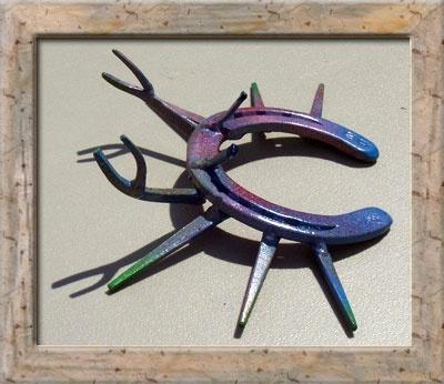 Marks custom horseshoe art for sale sculptures fer de for Horseshoe crafts for sale