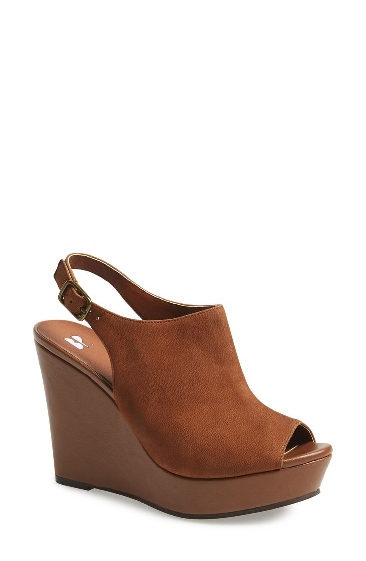 BP. 'Roundabout' Slingback Peep Toe Wedge (Women)