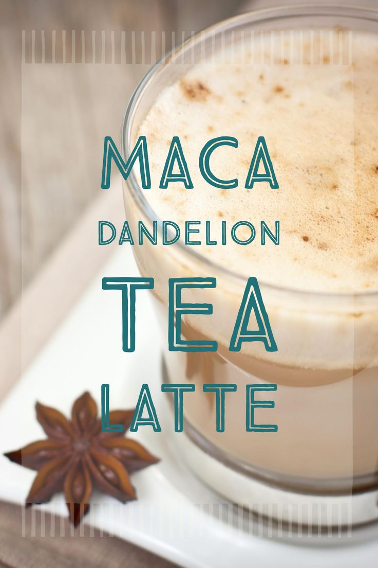 Say hello to your a.m. pick-me-up. This latte, made with maca powder and dandelion tea, can turn anyone into a morning person. Try it out and see for yourself!