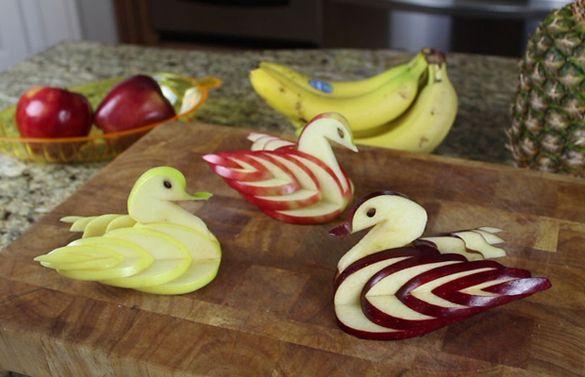 How to make an Edible Apple Swan - fancy-edibles.com