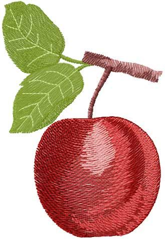 Apple Free Embroidery Design Fruits And Vegetables Embroidery