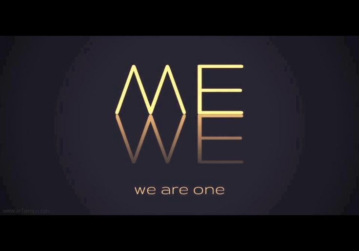 together we are both and me and the we who makes a difference in the world!