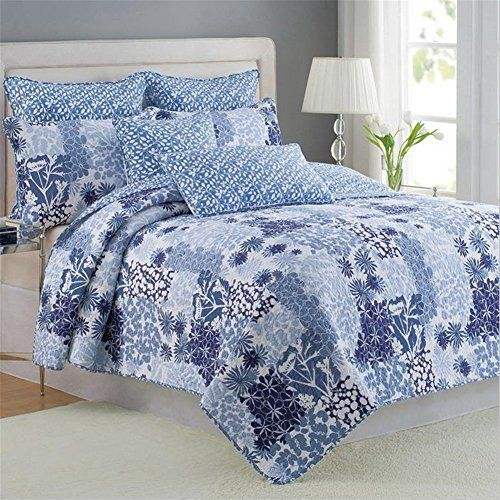 look at this 100 cotton 3 piece patchwork bedspread quilt sets fit queen king size bed
