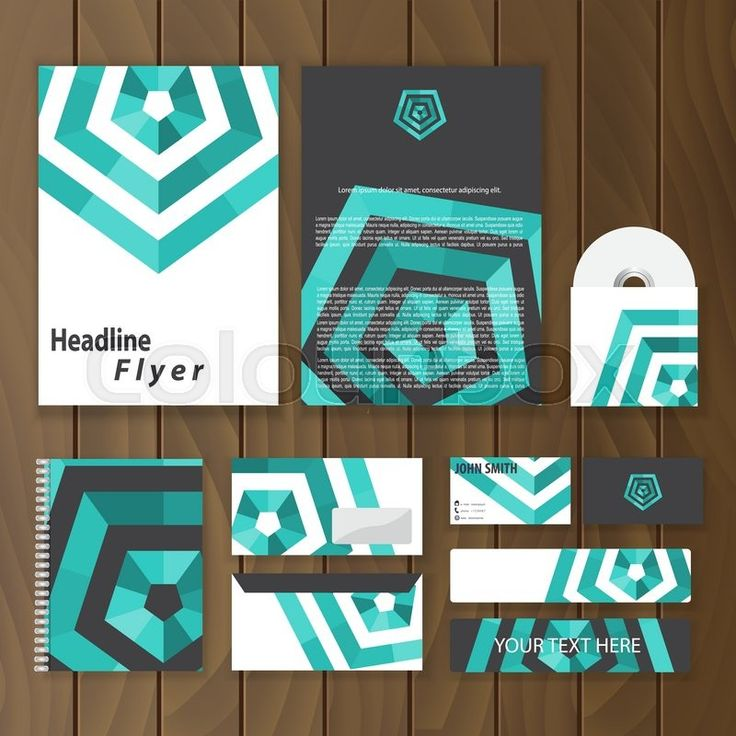Stock vector of 'Creative corporate identity with hexagon shape. Geometric stationery template. Trendy business concept with logo design. Vector illustration.'