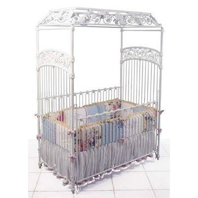 White iron canopy crib gorgeous incredible nursery for White canopy crib