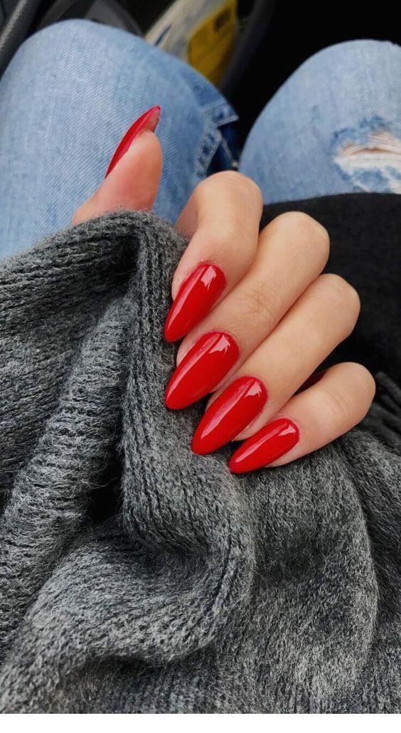nice simple red nails long stiletto nails red acrylic