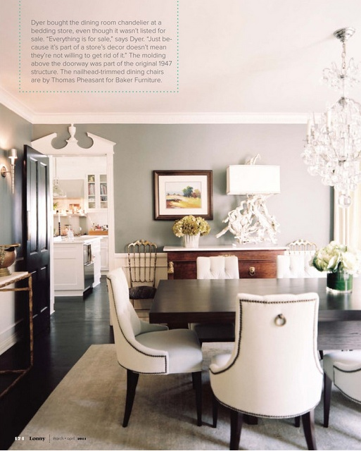 grey paint- great chairs & lamp