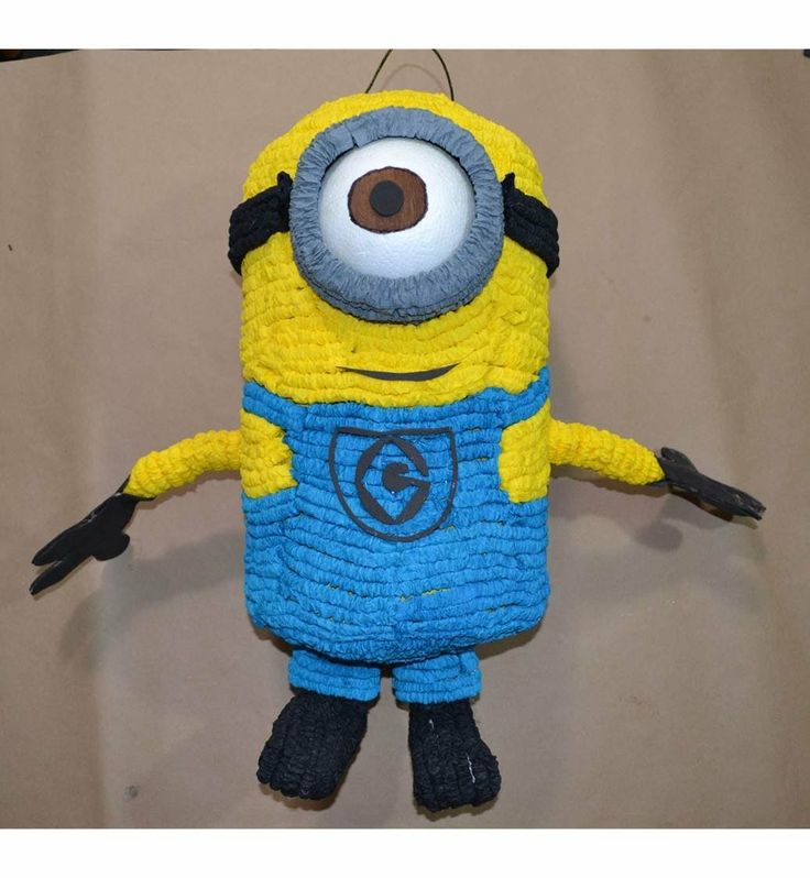 Como hacer una Piñata de minion (mi villano favorito)  maybe algo de finding nemo instead of minion...